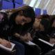 Studenti durante il workshop di Massimo Moretti